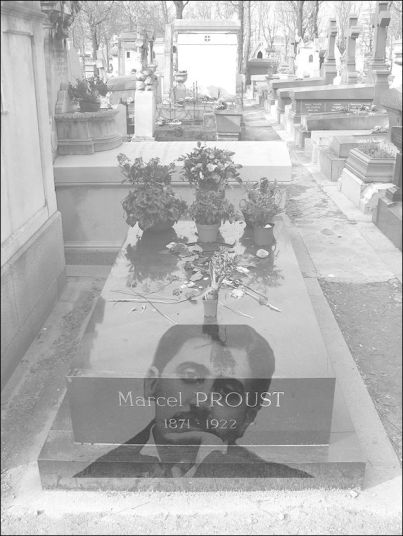 ghost of proust at grave