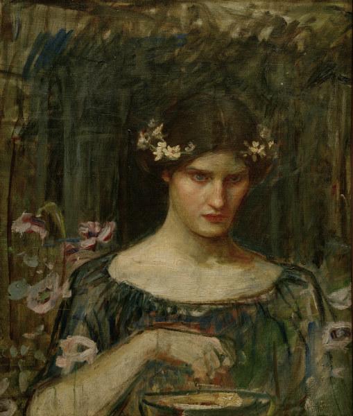 J.W.Waterhouse, Medea / Gemaelde, 1906-07 - J.W.Waterhouse / Medea / Painting -